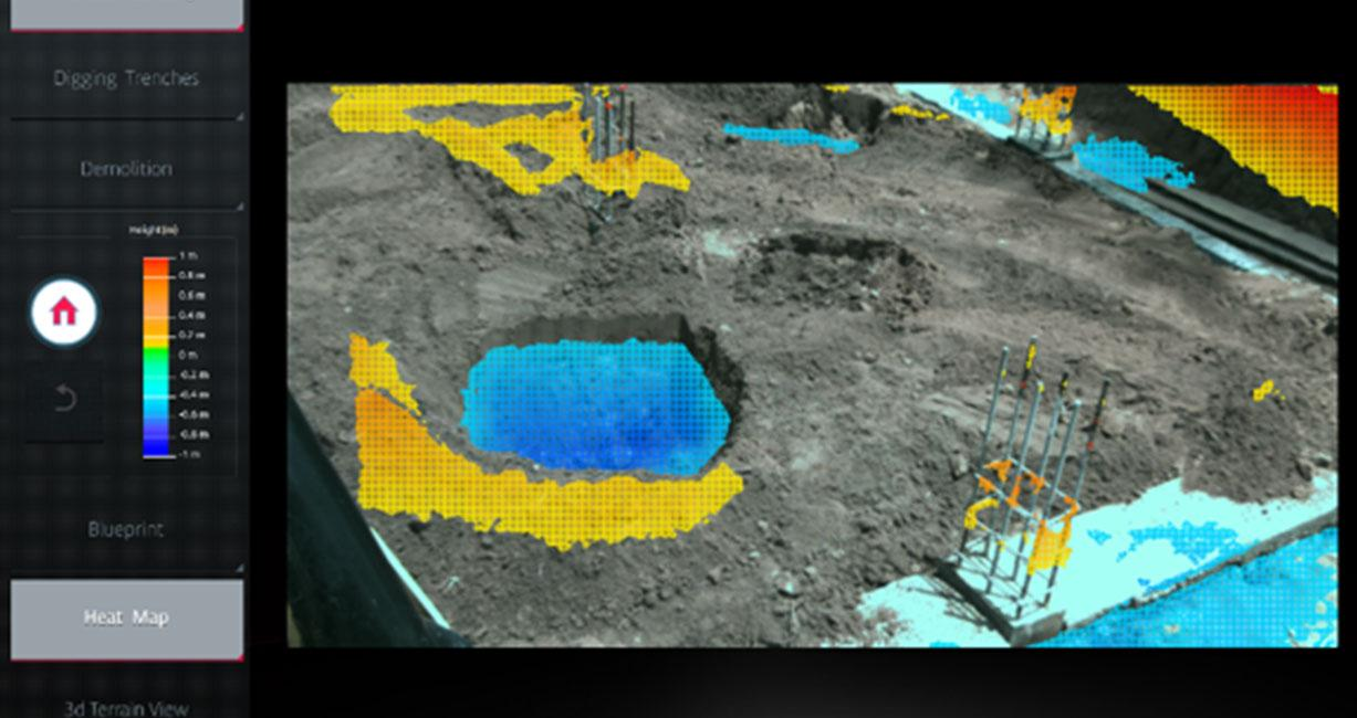 Vision based terrain mapping and visualization