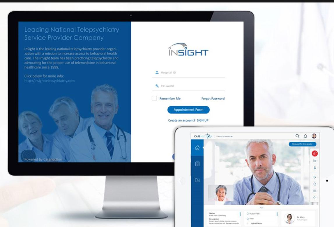 Carenection - A Telehealth portal to help hospitals offer remote consultations from clinicians