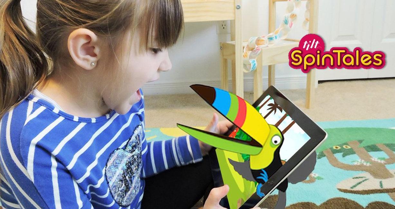 Spintales - Engaging kids in story telling using AR