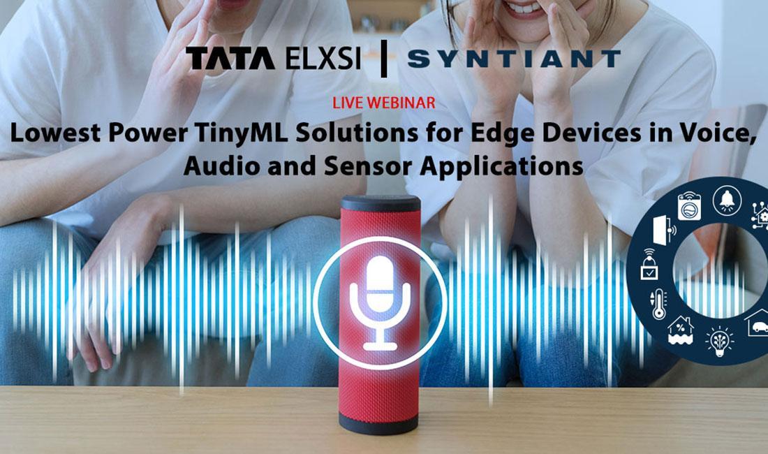 Webinar on Tiny ML for Edge Devices